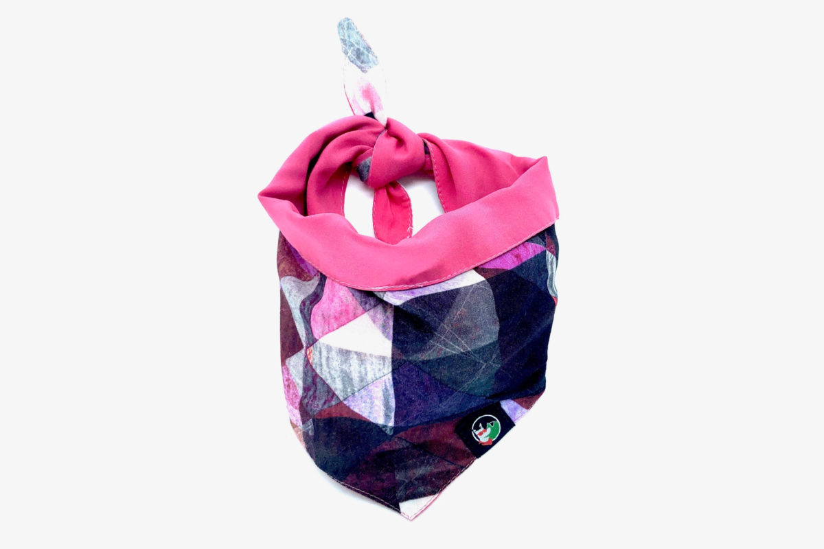 Sustainable pet bandana: CariocaPup Jazzy bandana in pink