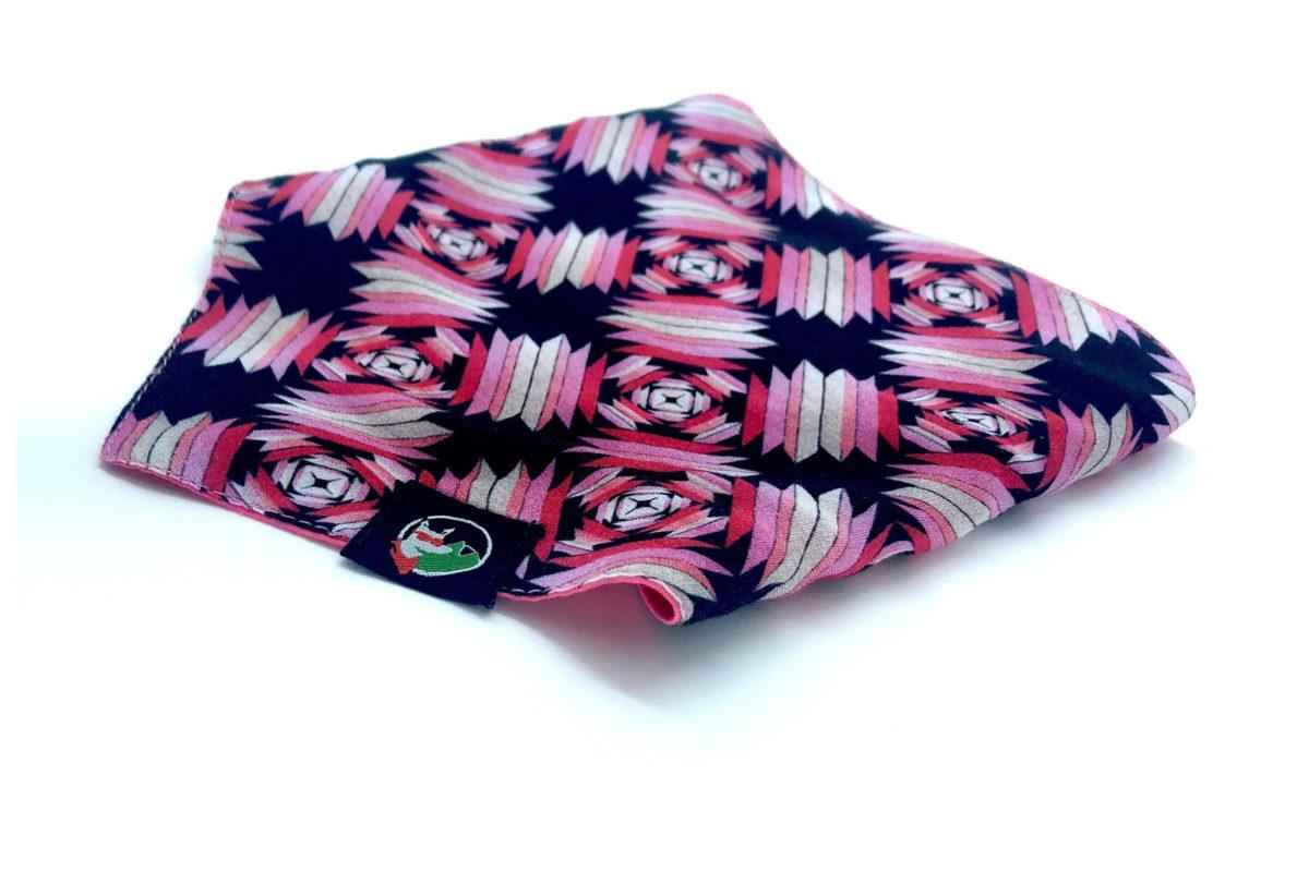 Eco-friendly dog bandana: CariocaPup Melody bandana in pink
