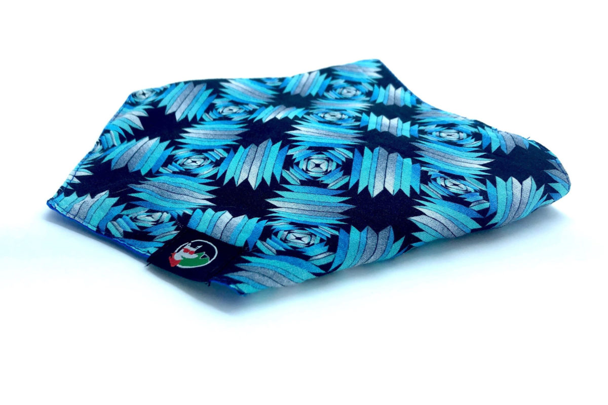Eco-friendly dog bandana: CariocaPup Melody bandana in blue