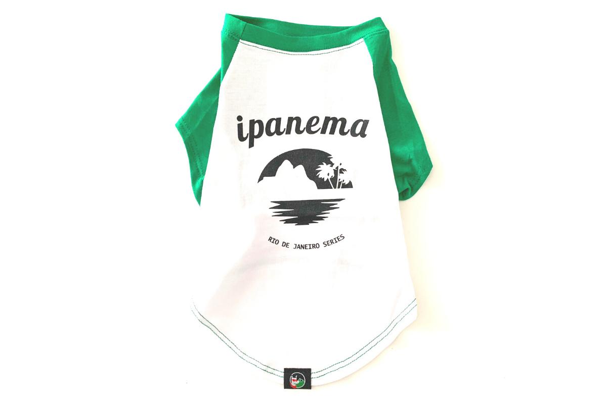Camiseta Ecológica Para Cachorro Ipanema CariocaPup
