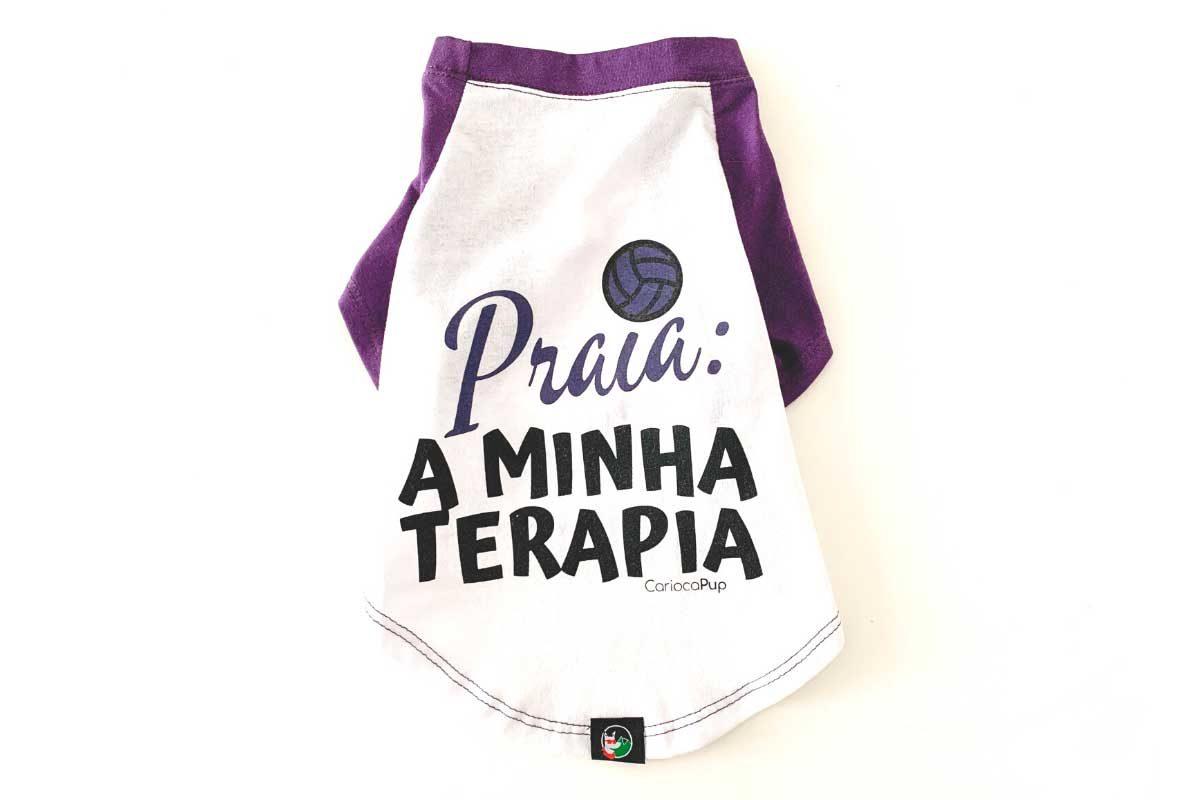 Camiseta para cães - CariocaPup - Praia a minha terapia