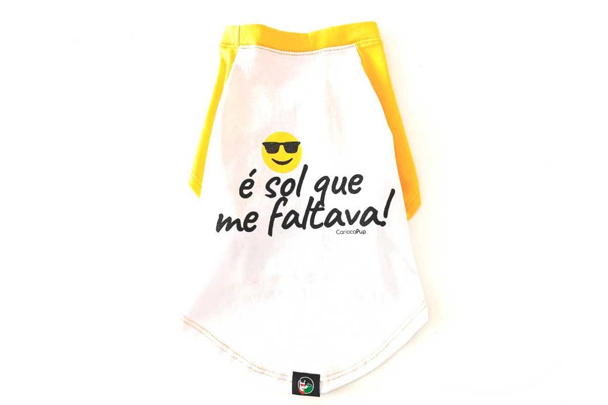 Camiseta para cães - CariocaPup é sol que me faltava