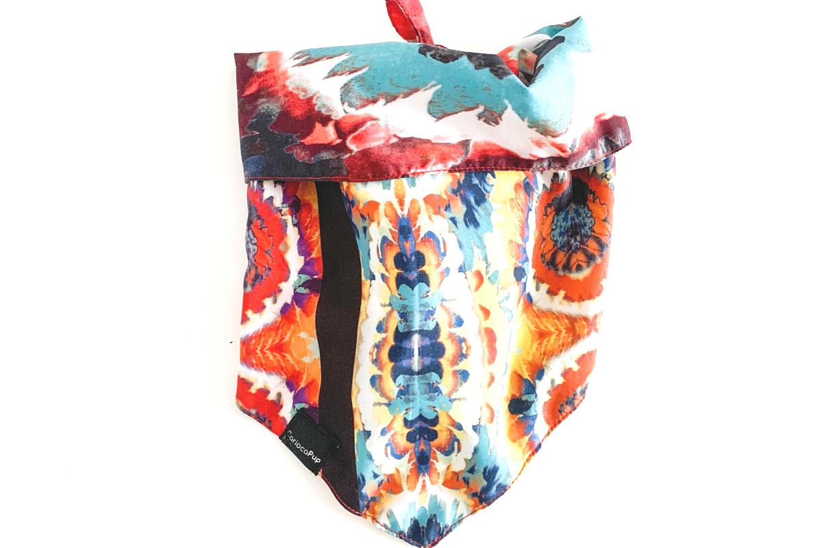 CariocaPup: bandana ecológica Aquarela - Coleção Natureza