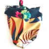 CariocaPup: bandana ecológica Floral Caqui-Blue - Coleção Natureza