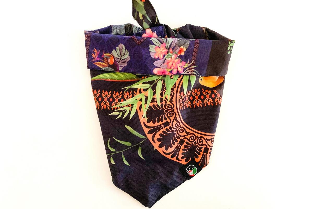 CariocaPup: bandana ecológica lírio - Coleção Natureza
