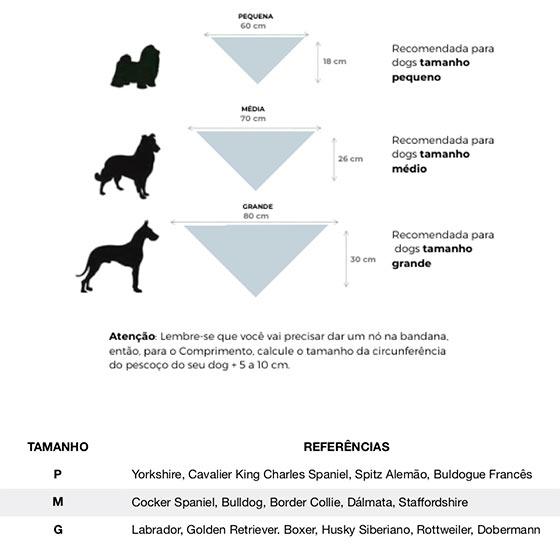 CariocaPup: guia de medidas de bandanas
