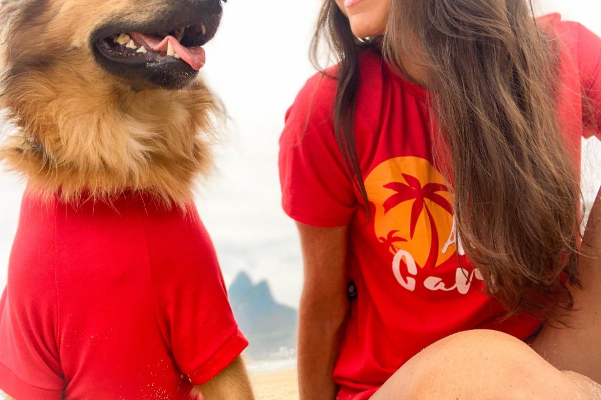 camiseta ecologica para cachorro alma carioca da CariocaPup