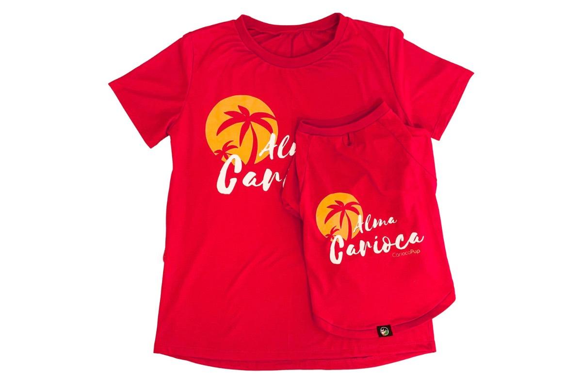 kit de camisetas ecologicas Tal Mãe Tal Pet Alma Carioca