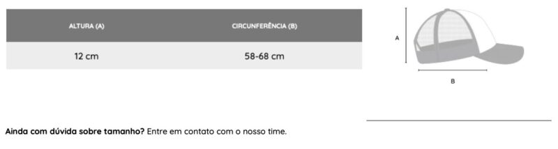 tabela medidas bone trucker cariocapup